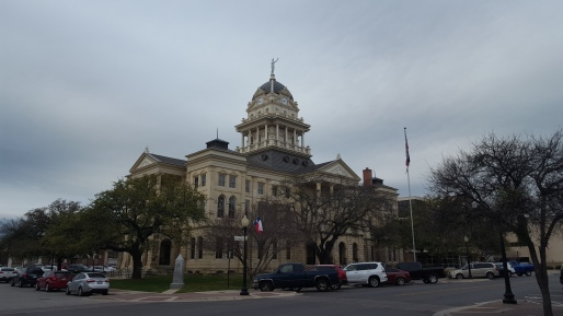 The Bell County Courthouse is located in Belton Texas, one block south of the Bell County Museum.