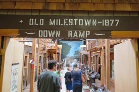 This is one of the main exhibits in the museum and has been designed as a life size diorama. It has almost a dozen different rooms including the 'main street' lined with saddles. It shows how Miles City looked as 'Milestown' in 1877.