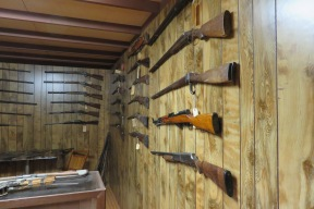 The gun store has its own exhibit room and has an interesting and eclectic collection of weapons. Some are real and some are not.