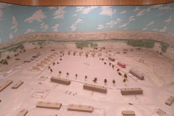 This is a model of Fort Keough at its peak. Keough was an officer killed with Custer at Little Big Horn. They departed from Miles City where General Miles had his camp. Range Riders Museum is located on the original site of Nelson's camp.