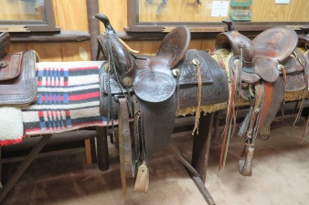 Saddles show up throughout the museum and represent the Range Riders way of life.