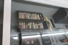 Medical vials filled with all kinds of apothecary and medicines.